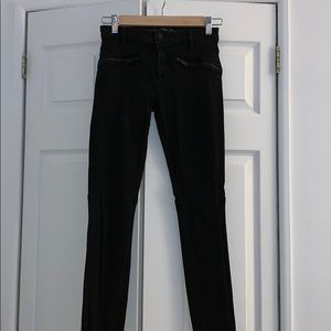 Zara Black Jeans with Front Zippers